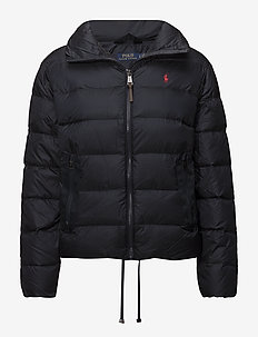 Embroidered Down Jacket - AVIATOR NAVY SOLI