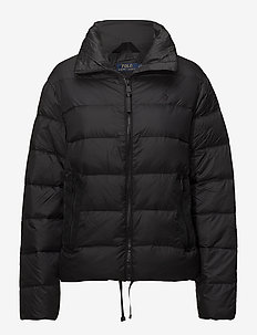 Embroidered Down Jacket - POLO BLACK SOLID