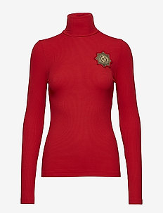 Crest Turtleneck Sweater - RL 2000 RED