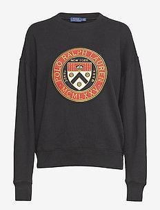 Crest Fleece Pullover - POLO BLACK