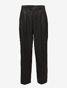 Wool Straight Pant - CHARCOAL GREY