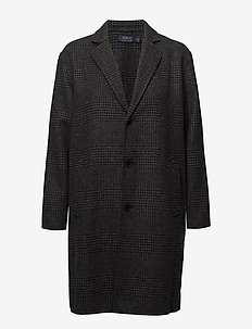 Glen Plaid Wool Trench - CHARCOAL GLEN PLA