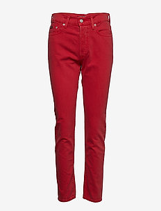 Callen High-Rise Slim Jean - RED