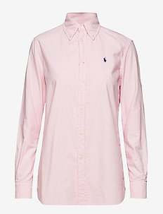 GD LT WT OXFORD-LSL-SHT - COUNTRY CLUB PINK