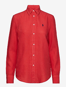 GARMENT DYE LINEN-LSL-SHT - FADED RED