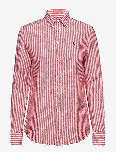 LINEN STRIPES-LSL-SHT - 956D RED/WHITE