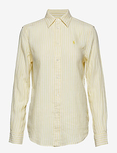 LINEN STRIPES-LSL-SHT - 956G WICKET YELLO
