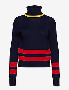 COTTON-LSL-SWT - NAVY/RED/GOLD