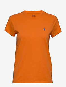 Cotton Jersey Crewneck Tee - logo t-shirts - fiesta orange