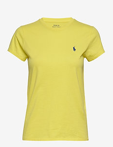 Cotton Jersey Crewneck Tee - logo t-shirts - lemon crush