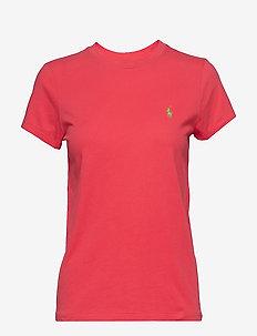 Cotton Jersey Crewneck Tee - RACING RED
