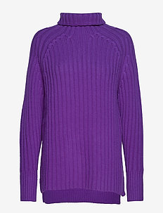 WOOL/CASHMERE-LSL-SWT - VALOR PURPLE