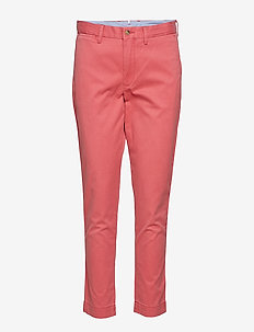 Stretch Cotton Straight Pant - NANTUCKET RED
