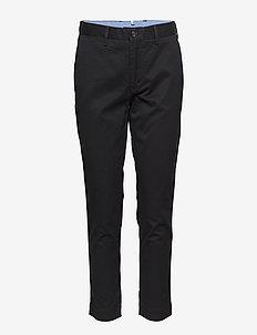 Stretch Cotton Straight Pant - POLO BLACK