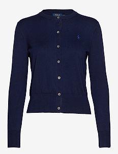 Cotton Cardigan Sweater - BRIGHT NAVY
