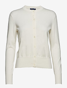 Cotton Cardigan Sweater - COLLECTION CREAM