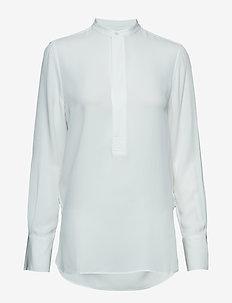 Silk Long-Sleeve Blouse - TROPHY CREAM