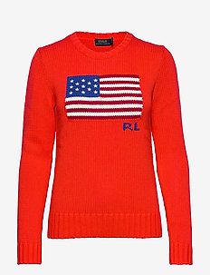 COTTON FLAG-LSL-SWT - pullover - african red