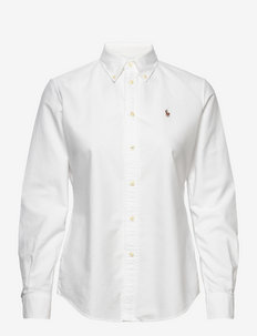 Slim Fit Cotton Oxford Shirt - overhemden met lange mouwen - bsr white