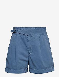 Buckled Chino Short - CAPRI BLUE