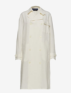Double-Breasted Linen Coat - NEVIS