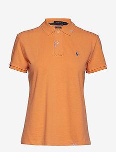 Classic Fit Cotton Polo Shirt - KEY WEST ORANGE