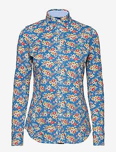 52fc88f5 Print Knit Cotton Oxford Shirt - BLUE FLORAL. 40%. Polo Ralph Lauren. Print  knit ...