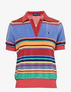 French Terry Polo Shirt - MULTI STRIPE
