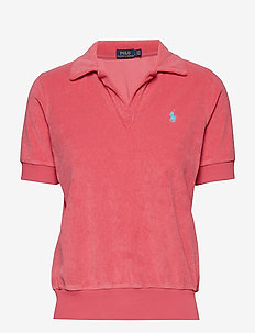 French Terry Polo Shirt - NANTUCKET RED