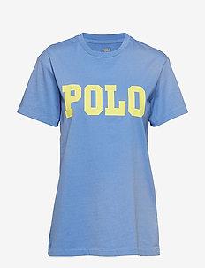 Big Fit Polo Cotton T-Shirt - LAKE BLUE