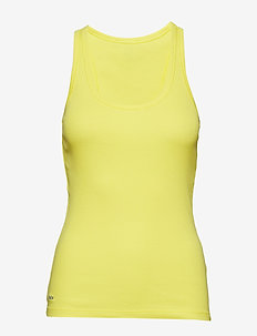 Cotton Racerback Tank Top - HAMPTON YELLOW