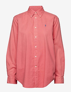 Cotton Oxford Shirt - PALE RED
