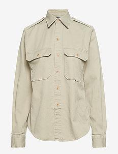 Twill Military Shirt - HAMPTON KHAKI