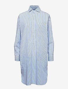 Striped Poplin Shirtdress - 112D BLUE/WHITE