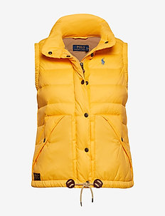 Nylon Down Vest - ATHLETIC GOLD