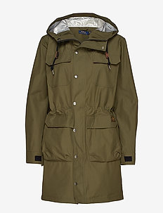 Water-Repellent Hooded Jacket - EXPEDITION OLIVE
