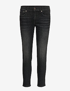 Tompkins Skinny Crop Jean - WASHED BLACK