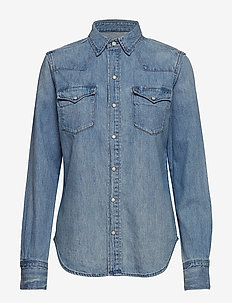 Denim Western Shirt - jeansowe koszule - medium indigo