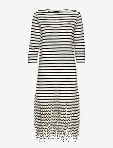Fringe Cotton Shirtdress - CLUBHOUSE CREAM/P