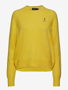 Wool Crewneck Sweater - RACING YELLOW