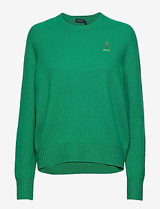 Wool Crewneck Sweater - STEM GREEN