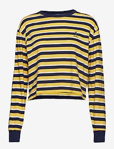 Striped Jersey Crewneck Tee - CHROME YELLOW MUL
