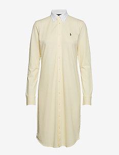 Cotton Oxford Shirtdress - WICKET YELLOW