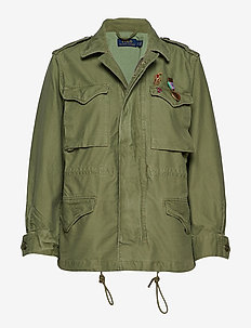Cotton Twill Military Jacket - ARMY OLIVE