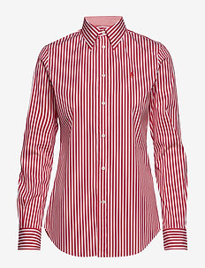 Stretch Slim Fit Striped Shirt - 952J WHITE/CACTUS