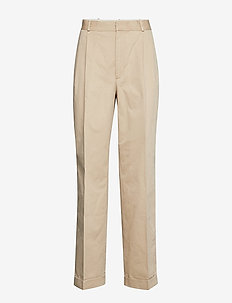 PIECE DYED CHINO-STR-PNT - straight leg trousers - classic tan