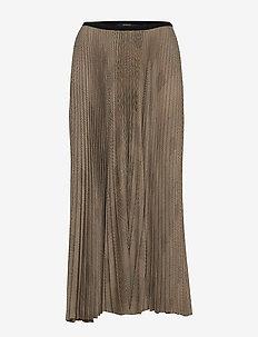 Plaid Pleated Midi Skirt - SMALL GLEN PLAID
