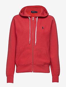 Fleece Full-Zip Hoodie - SPRING RED