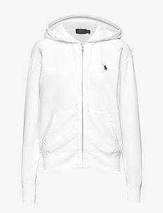 Fleece Full-Zip Hoodie - WHITE