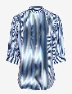 Striped Cotton Shirt - 814 BLUE/WHITE